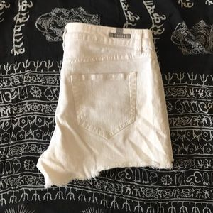 LC White Jean Short Shorts